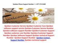 Quicken Contact Helpline Number 1-877-374-0468