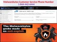 Malwarebytes Customer Support Number   1-844-442-6444