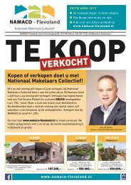 NAMACO Flevoland Woonmagazine, uitgave april 2017