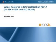 ISO 26262 Tool Qualification of PolySpace Products - MathWorks