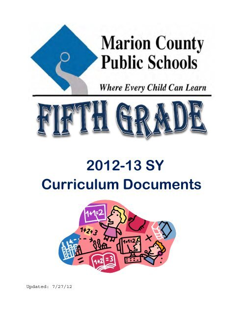 2012-13 SY Curriculum Documents - Marion County Public Schools