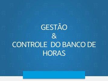 Gestão Banco de Horas - Gestor
