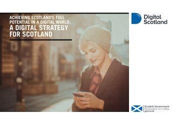 A DIGITAL STRATEGY FOR SCOTLAND