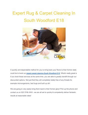 Top Class Carpet Cleaning In South Woodford E18