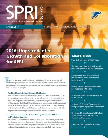 2016 Unprecedented Growth and Collaboration for SPRI