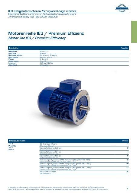 Elektromotoren-Katalog-IE3