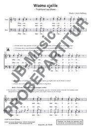 Wasma ajelile (für Männerchor TTBB)