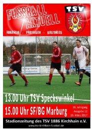 26.03.2017 Stadionzeitung SFBG Marburg/TSV Speckswinkel