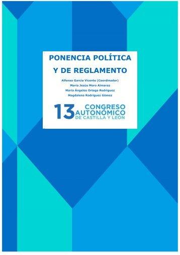 PONENCIA POLÍTICA Y DE REGLAMENTO