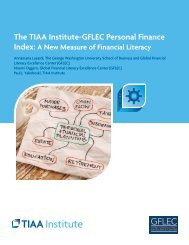The TIAA Institute-GFLEC Personal Finance Index