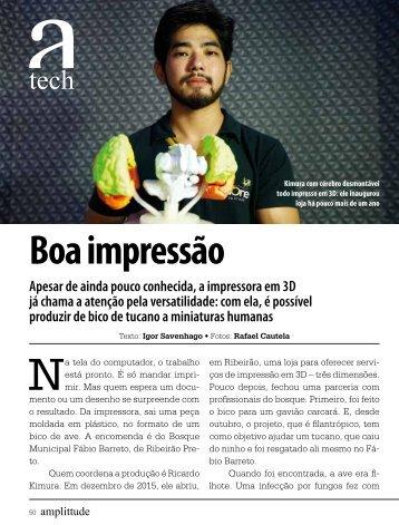 Matéria sobre Impressão 3D na Revista Amplitude
