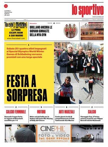Lo Sportivo 23/03/2017