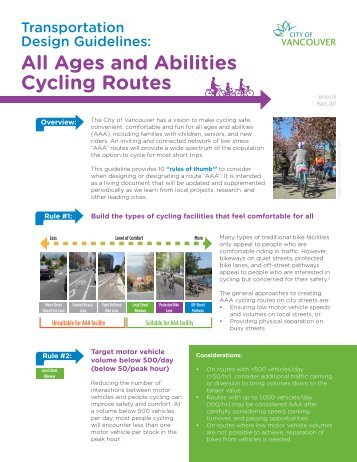 All Ages and Abilities Cycling Routes