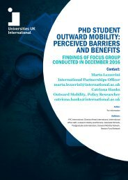 OUTWARD MOBILITY PERCEIVED BARRIERS AND BENEFITS