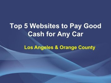 5 websites which pay Cash for your car