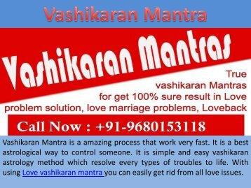 Complete Vashikaran Mantra Services