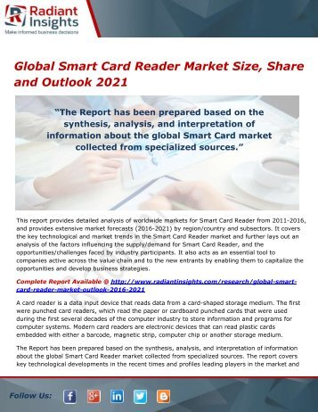 Global Smart Card Reader Market Analysis and Forecast Report 2021