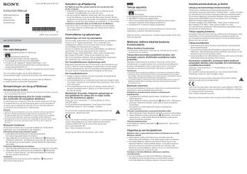 Sony NW-ZX100HN - NW-ZX100HN Istruzioni per l'uso Danese