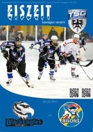 Eiszeit Stadionzeitung TSG Black Eagles vs. Bisons Pforzheim 26032017
