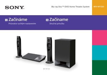 Sony BDV-NF7220 - BDV-NF7220 Guide de mise en route Tchèque