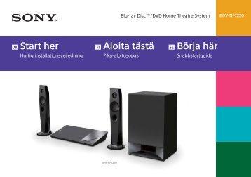 Sony BDV-NF7220 - BDV-NF7220 Guide de mise en route Suédois