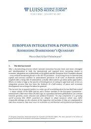 EUROPEAN INTEGRATION & POPULISM ADDRESSING DAHRENDORF'S QUANDARY