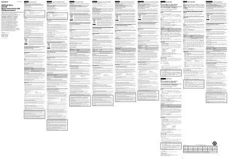 Sony USM4GP - USM4GP Istruzioni per l'uso Turco