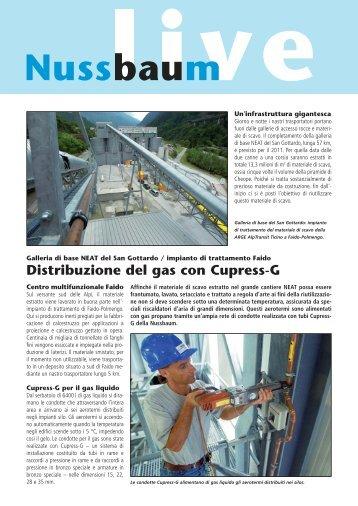Distribuzione del gas con Cupress-G