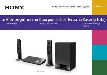 Sony BDV-NF7220 - BDV-NF7220 Guide de mise en route Italien
