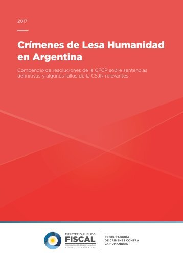 Crímenes de Lesa Humanidad en Argentina