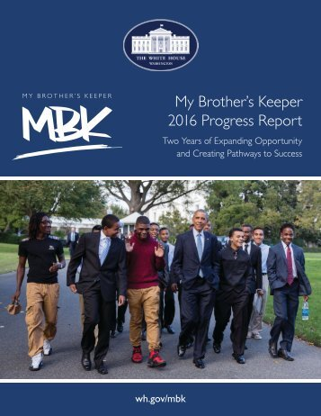 My Brother's Keeper 2016 Progress Report