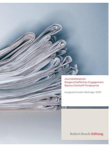 Journalistenpreis Bürgerschaftliches Engagement Marion ... (PDF)