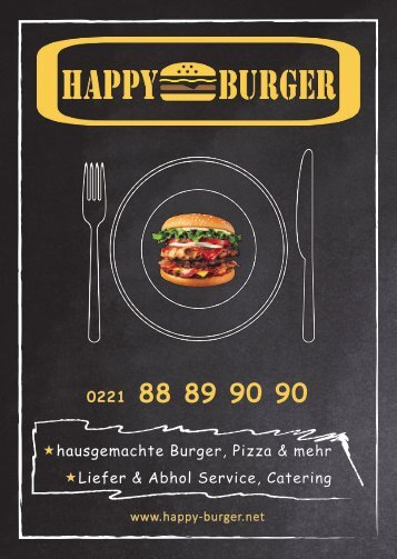 Happy Burger Speisekarte