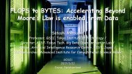FLOPS to BYTES Accelerating Beyond Moore's Law is enabled from Data