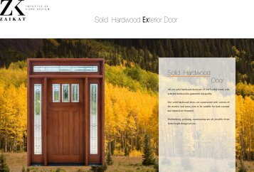 Solid Wood Door Cataloge - ZAIKAT
