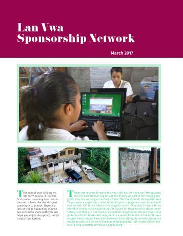 March 2017 Sponsorship Network
