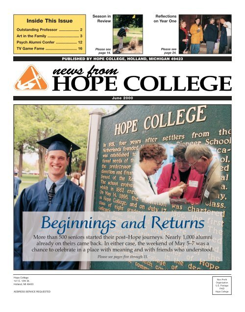 news from - Hope College