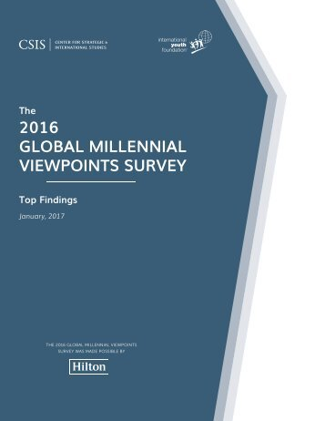 2016 GLOBAL MILLENNIAL VIEWPOINTS SURVEY