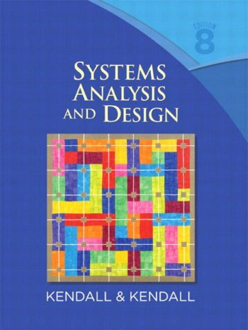 Systems Analysis and Design 8th ed. - K. Kendall, J. Kendall (Pearson, 2011) BBS