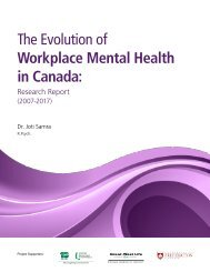 The Evolution of Workplace Mental Health in Canada