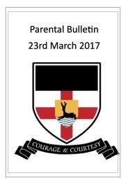 KTS Parental Bulletin 23rd March 2017