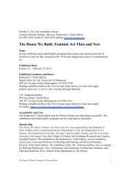 The House We Built: Feminist Art Then and Now - University of ...