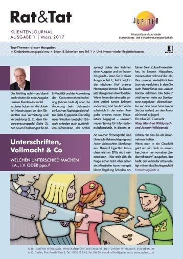 Rat & Tat - Klienten-Info / Ausgabe 1/2017