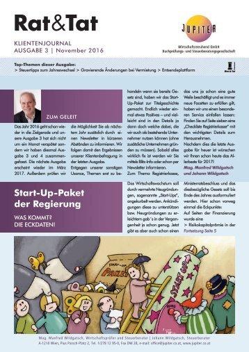 Rat & Tat - Klienten-Info / Ausgabe 3/2016