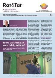 Rat & Tat - Klienten-Info / Ausgabe 1/2016