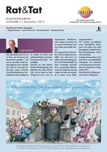 Rat & Tat - Klienten-Info / Ausgabe 4/2015