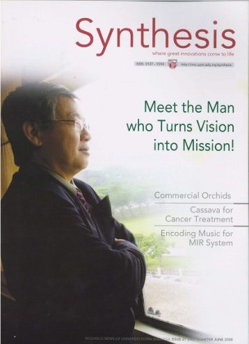Meet the Man who Turns Vision into Mission! - Universiti Putra ...
