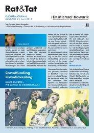 Rat & Tat - Klienten-Info / Ausgabe 2/2016