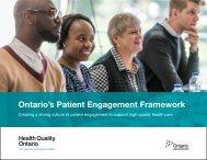 Ontario's Patient Engagement Framework
