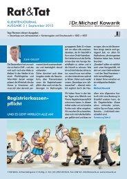 Rat & Tat - Klienten-Info / Ausgabe 3/2015